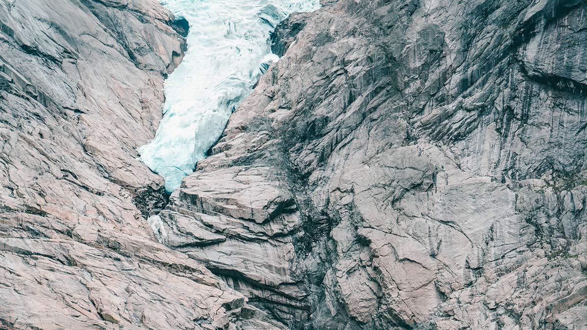 norwegen gletscher briksdalsbreen