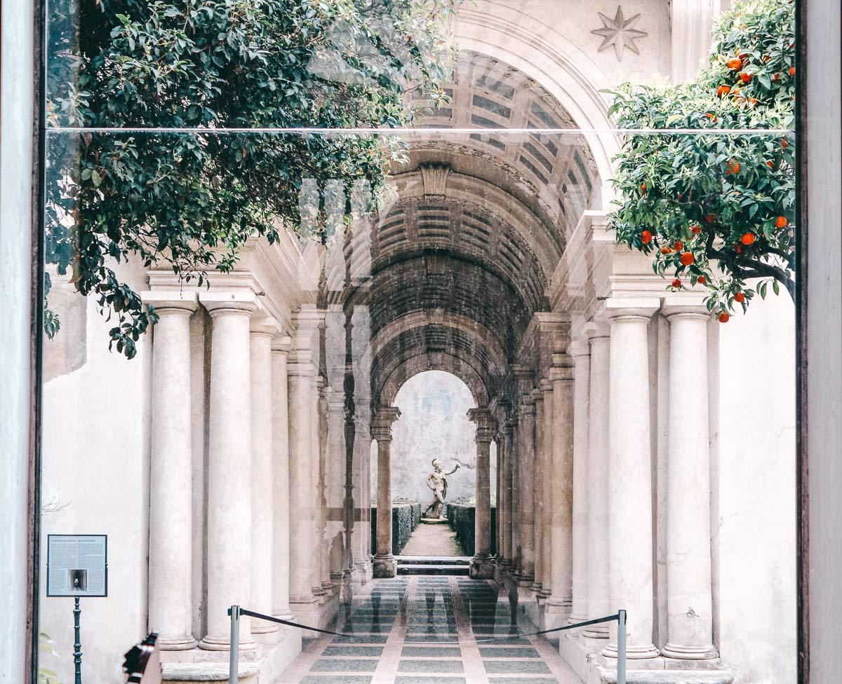 Palazzo Spada Borromini Perspektive