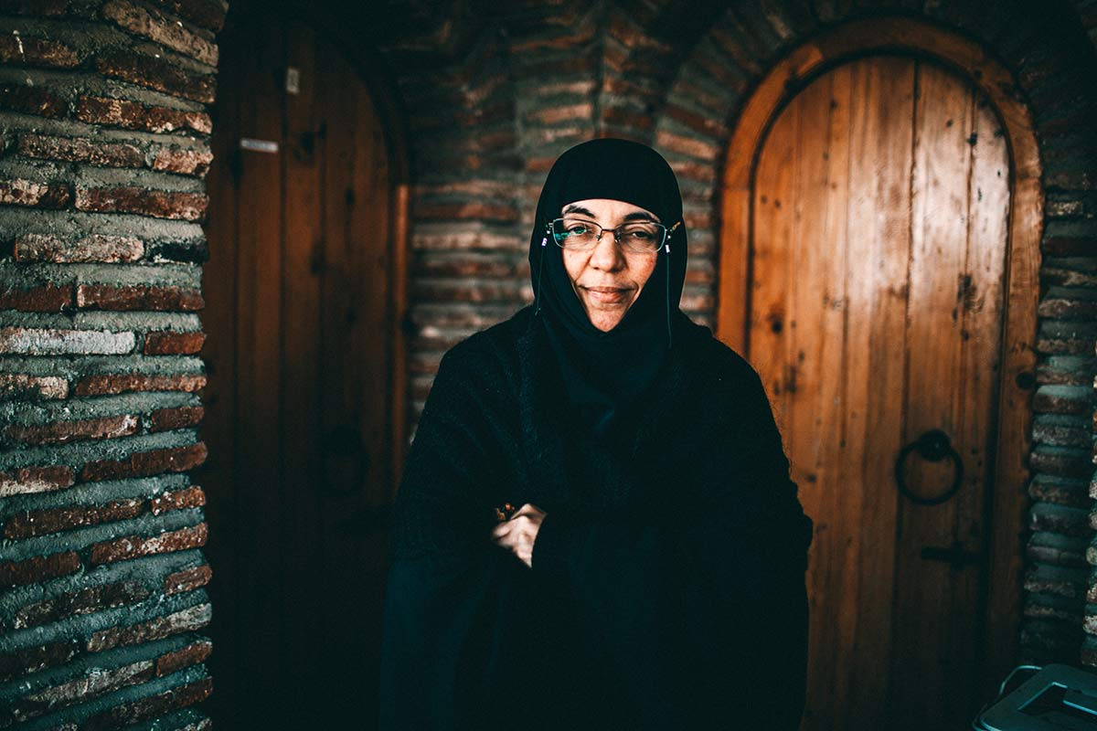Schwester Sidionia in ihrem Gewand