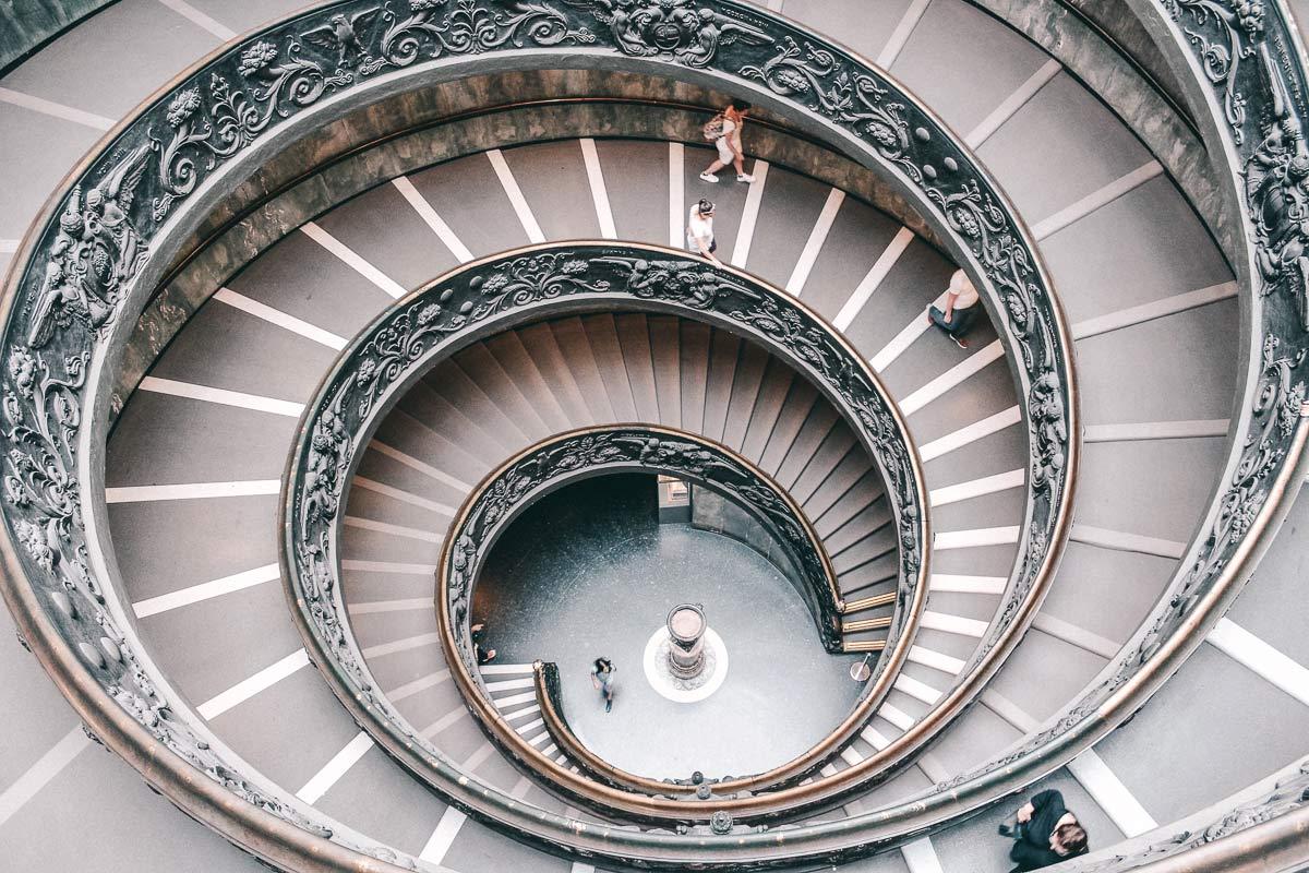 Vatikanische Museen Ausgangstreppe