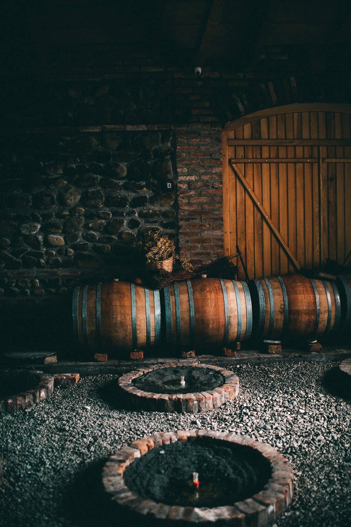 Weinfaesser Telavi Wine Cellar