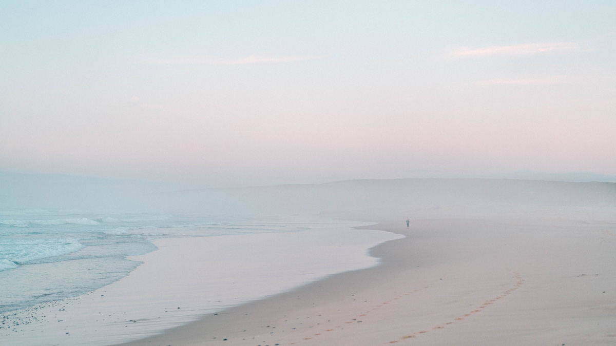 Praia da Bordeira Nebel