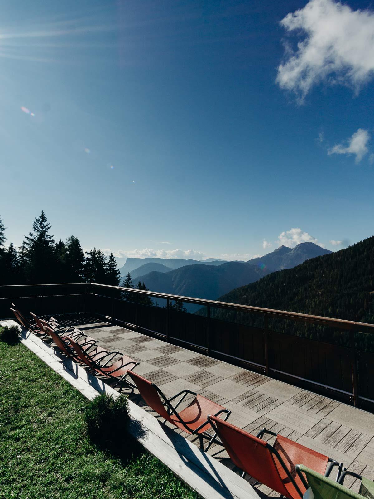 aussicht gampl alm terrasse