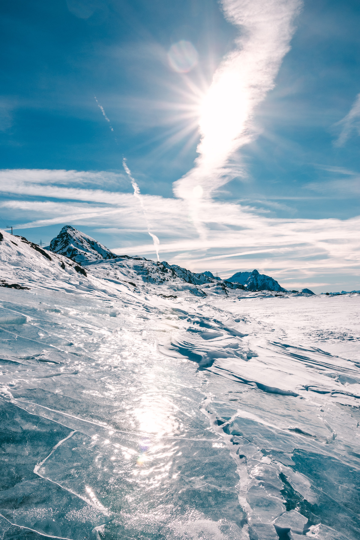 St. Moritz Schweiz Winter