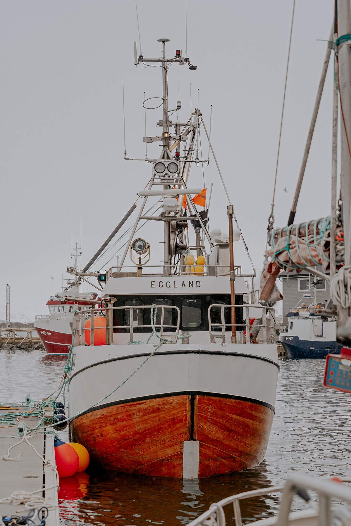 Boot Hafen Hamnoy