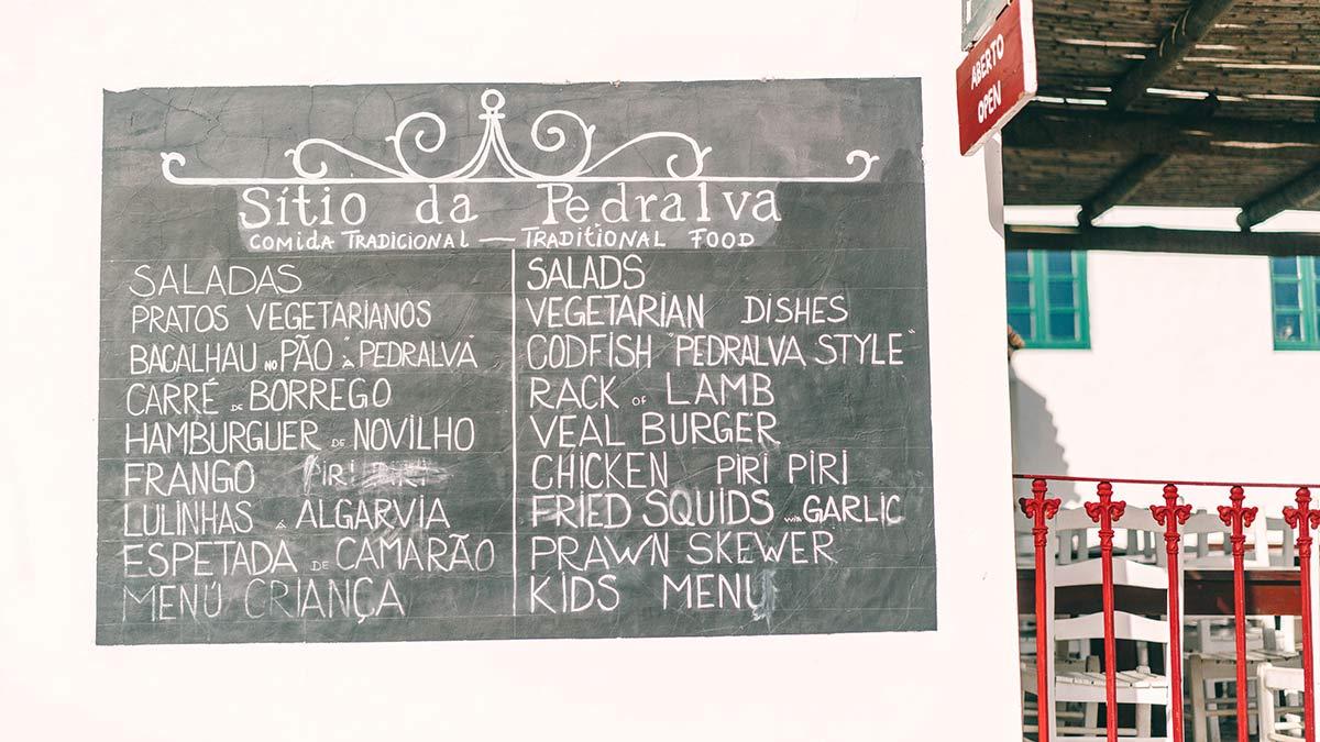 restaurant pedralva