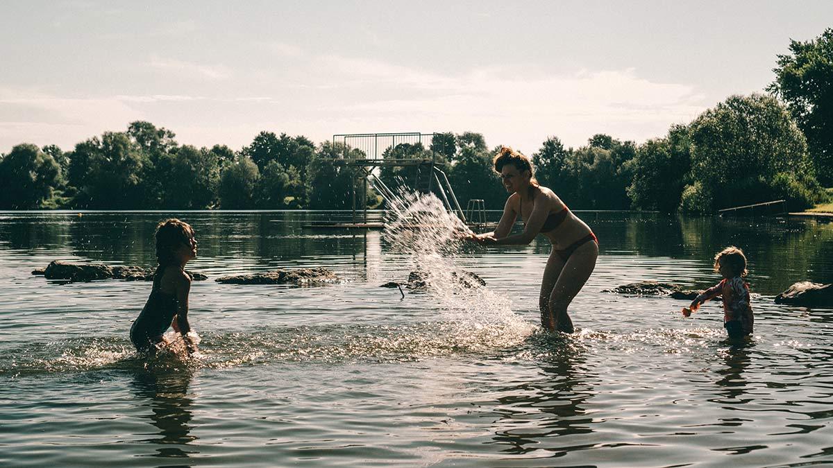 Wasser spielen Ostsee