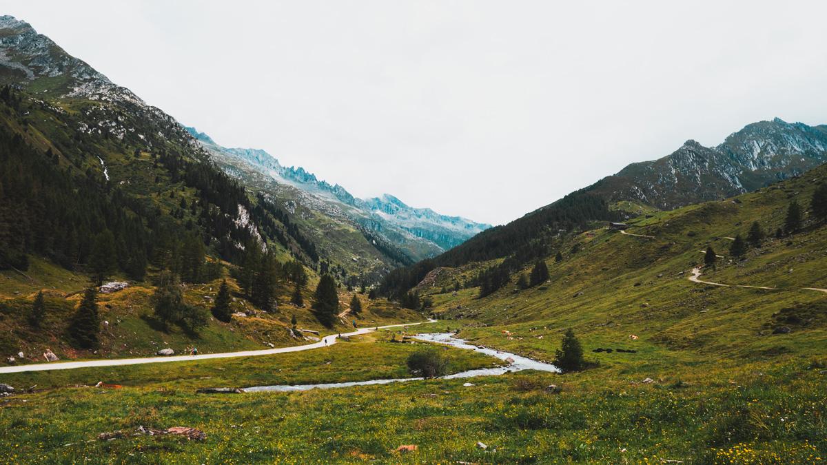 Suedtirol Sehenswuerdigkeiten: Kasern Landschaft Panorama