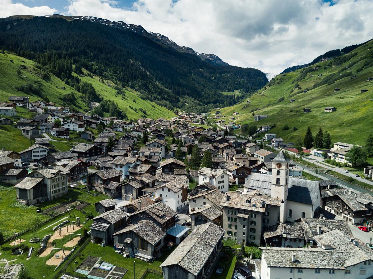 Vals in der Schweiz Bergdorf Vals