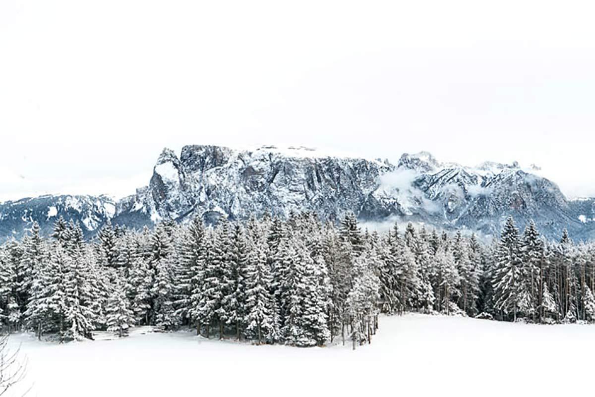 Schlern Winter Suedtirol
