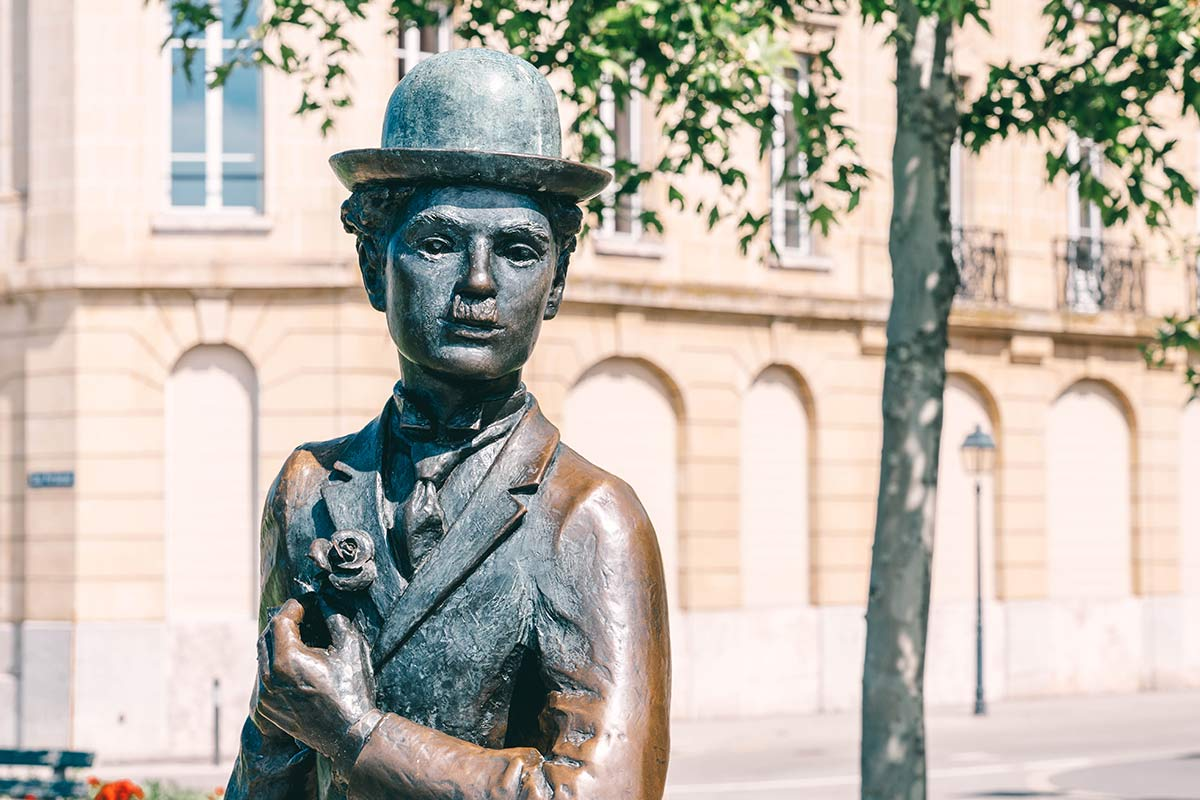 Charlie Chaplin Statue am Genfersee 2