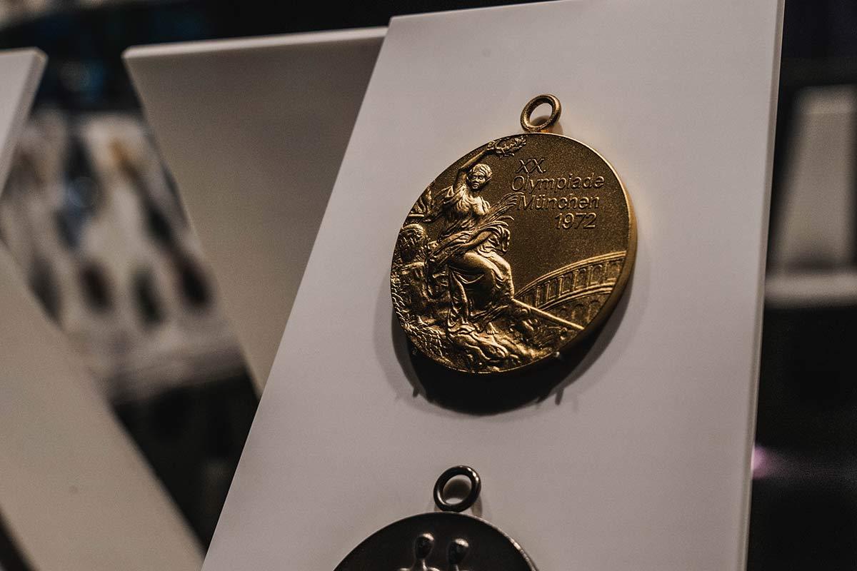 Goldmedaille im Olympischen Museum Lausanne