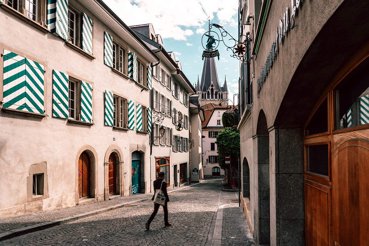 Mittelalterliche Gassen Lausanne