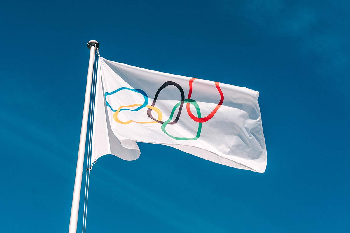 Olympische Flagge Lausanne