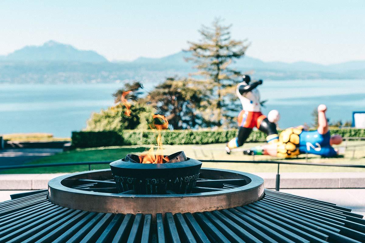 Olympisches Feuer Lausanne