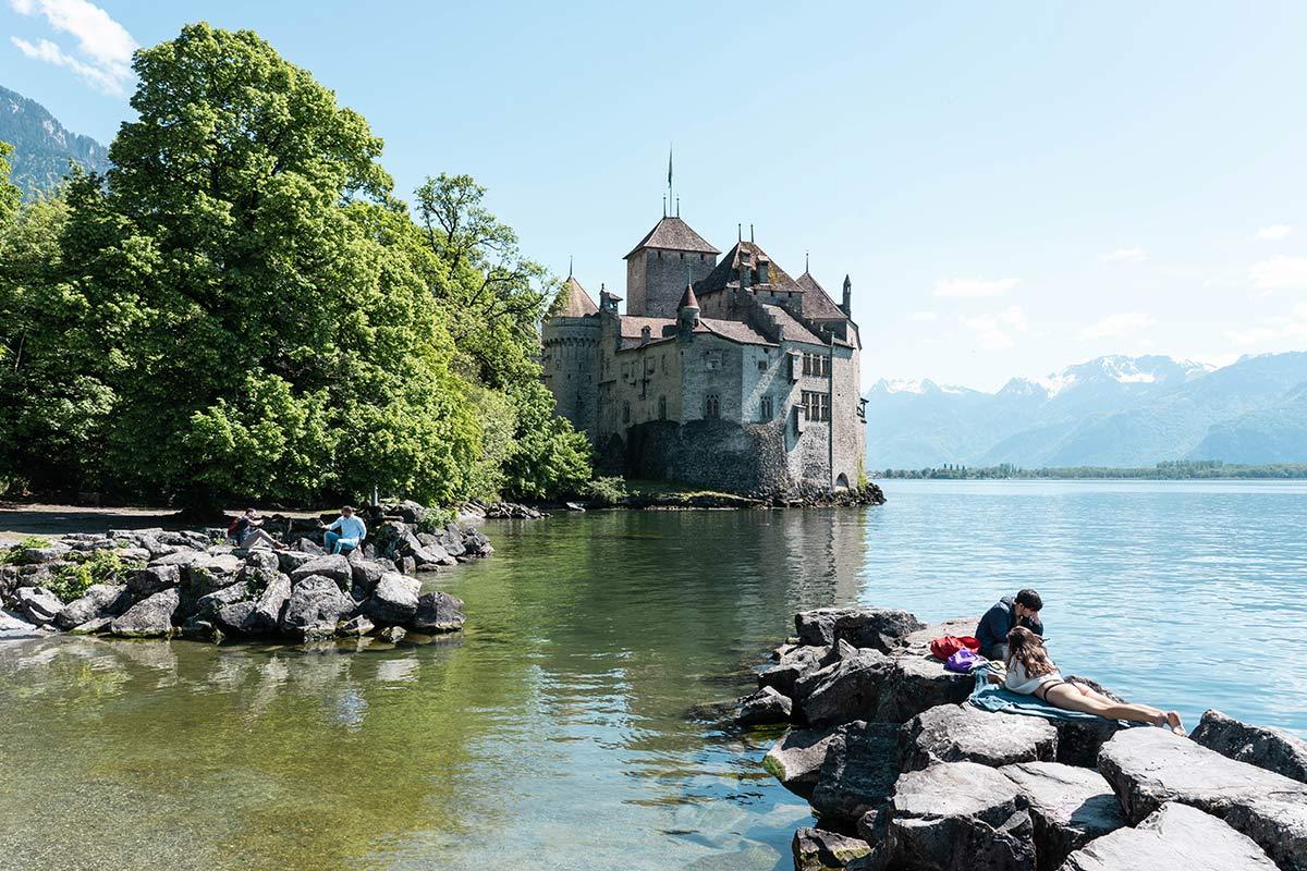 Schloss Chillon in Montreux in der Schweiz